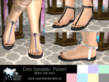 ::AMF:: Dee Sandals Pastel-  Add To Open