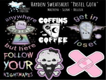 ::AMF:: Hayden Sweatshirt Pastel Goth - Rez to open
