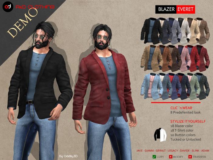 A&D Clothing - Blazer -Everet-  DEMOs
