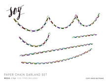 Soy. Paper Chain Garlands Set [addme]