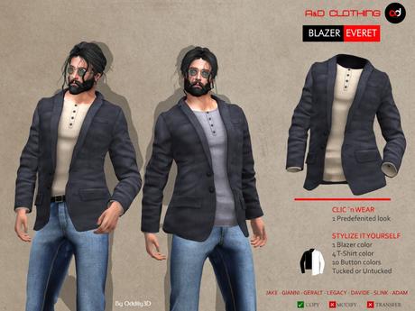 A&D Clothing - Blazer -Everet- Charcoal
