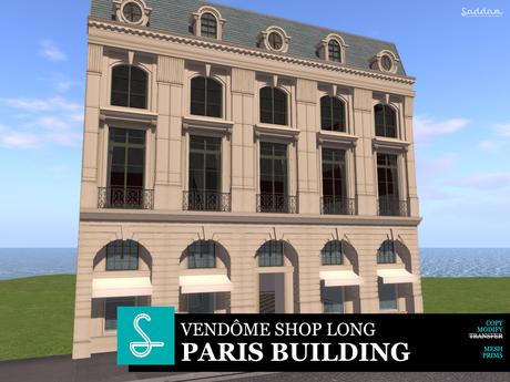Paris Vendome Shop Long - Building