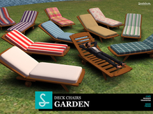 Deck chairs x11