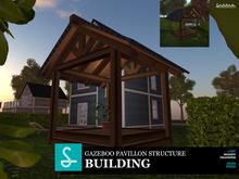 Gazebo pavilion structure Mesh - Garden