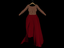 ::AMF:: Isobel Gown Gold Burgandy - Rez to open