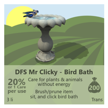DFS Mr Clicky - Bird Bath