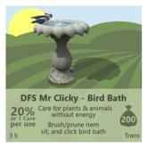 DFS Mr Clicky - Bird Bath