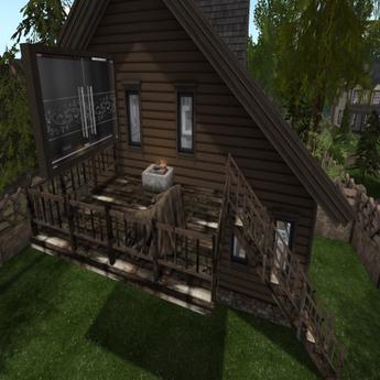 Log home Back deck-Lincoln& Grand
