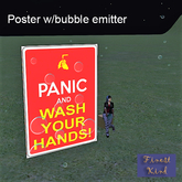 Coronavirus-Covid 19-panic & wash poster