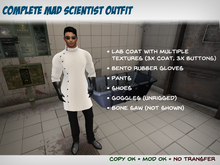 Mad Scientist Outfit (Signature Gianni) - Lab Coat, Bento Gloves, Texture HUD, Goggles, Etc