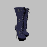 ::AMF:: Lilith mid calf Boots Blue- Add to Open