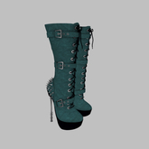 ::AMF:: Lilith mid calf Boots Green - Add to Open