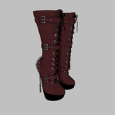 ::AMF:: Lilith mid calf Boots Red