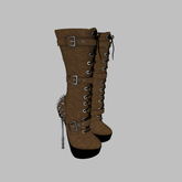 ::AMF:: Lilith mid calf Boots Brown- Add to Open