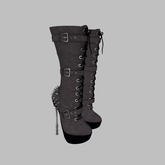 ::AMF:: Lilith Half Calf Boot Black
