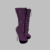 ::AMF:: Lilith mid calf Boots Purple- Add to Open