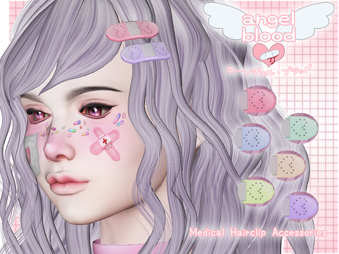 angel blood - kawaii hair clips