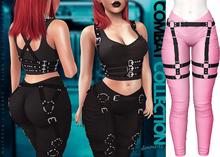 Demon Doll - Combat Leggings + Harness Barbie Pink