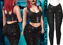 Demon Doll - Combat Leggings + Harness Black