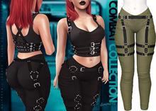 Demon Doll - Combat Leggings + Harness Khaki