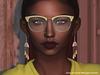 Golden metal plastic sunglasses 20