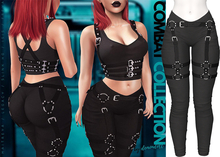 Demon Doll - Combat Leggings + Harness Onyx