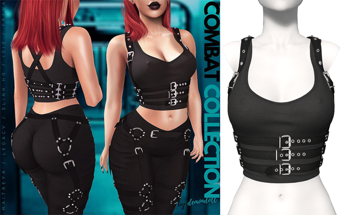 Demon Doll - Combat Top + Harness Onyx