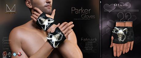 [[ Masoom ]] Parker Gloves-Black- Jake, Legacy, Gianni, Geralt & Slink