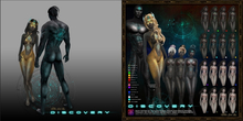 +Fallen Gods Inc.+ Discovery tattoo, Turquoise RARE