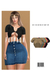 Soft Rib Button Up Crop Top [FATPACK] ::Kloss::