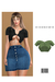 Soft Rib Button Up Crop Top [MINT] ::Kloss::