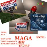 MAGA SIGN GIVER TRUMP 2020 & MAGA HAT-BOX