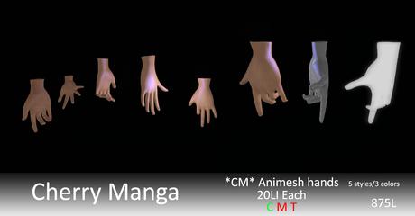 *CM* Animesh Hands Pack