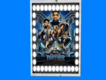 Lighted Movie poster-Black Panther