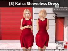 [S] Kaisa Sleeveless Dress Red