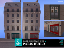 Paris Small Haussmann 4 floors Shop1 Green and Red V.1.2
