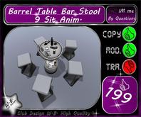 * Bar Club or Lounge Set * Table & 5 Stool Sit 9 *