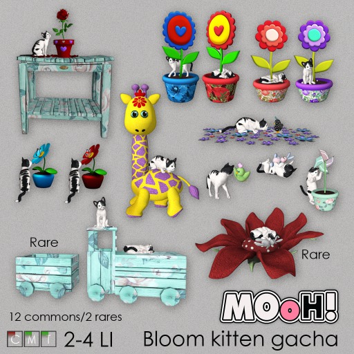 MOoH! Pot flower kitten purple 2LI