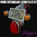 Custom Plate Kit - customizable license plate kit