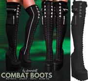 Demon Doll - Combat Boots Onyx
