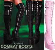 Demon Doll - Combat Boots Baby Pink