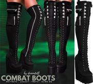 Demon Doll - Combat Boots Black