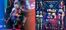 3 .{PSYCHO:Byts} Cyberneon Destiny - Goggles PURPLE BOX