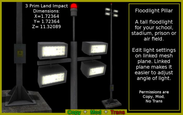Floodlight Pillar (Boxed)