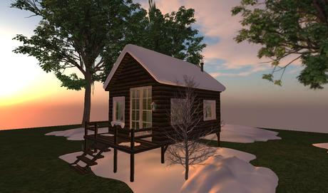 Winter Snow Cabin Furnished, house,home,prefab