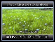 TMG - BLOSSOM GRASS - BLUE* 1 Prim Moving Grass