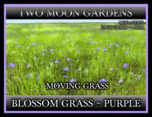 TMG - BLOSSOM GRASS - PURPLE* 1 Prim Moving Grass