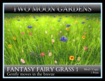 TMG - FANTASY FAIRY GRASS 1* 1 Prim Moving Grass