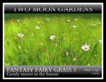 TMG - FANTASY FAIRY GRASS 3* 1 Prim Moving Grass