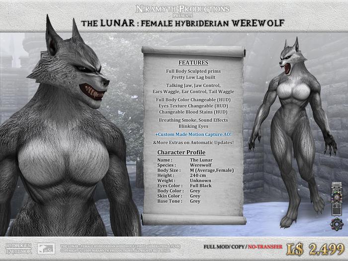 """The Lunar"" Hybriderian Werewolf (The First Generation Lycan)"
